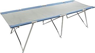 Homecall - Cama de camping plegable, XXL (gris/azul)
