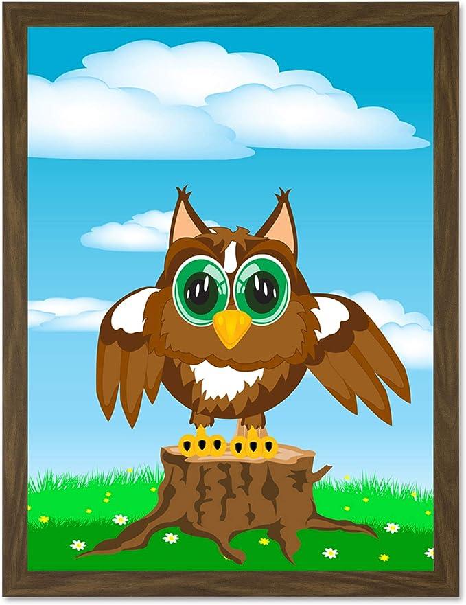 Amazon Com Doppelganger33 Ltd Painting Cute Cartoon Tree Stump Owl Art Large Art Print Poster Wall Decor 18x24 Inch Posters Prints Download 817 owl cartoon free vectors. amazon com