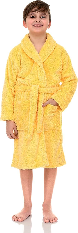 TowelSelections Max 41% OFF Boys Robe OFFicial store Kids Fleece Plush Shawl Bathrobe