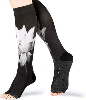 Calcetines Pilates Yoga Mujer Antideslizantes Medias De Compresion Calcetines De Compresión Calentadores De Pantorrilla 20-30mmhg