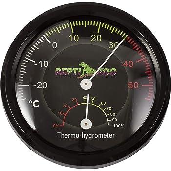 REPTI ZOO 温度湿度計 爬虫類用 両生類用 ペット飼育用 乾燥対策 熱中症対策 小型 バッテリ不要