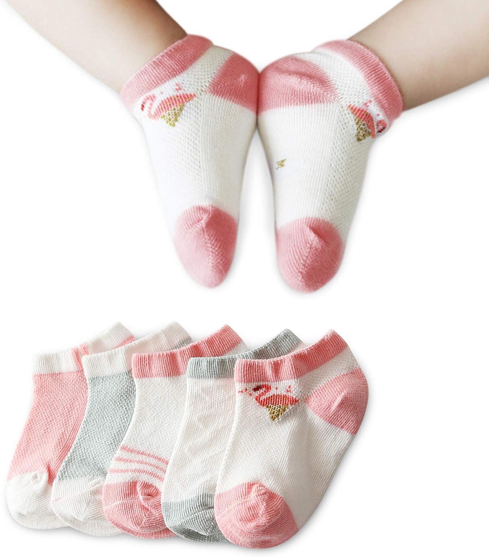 DORRISO San Antonio Mall 5 Pairs Cute Socks of Cotton Boys Girls sale Sprin Baby