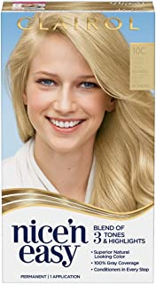 Clairol Nice'n Easy Permanent Hair Color, 10C Extra Light Cool Blonde, 1 Count