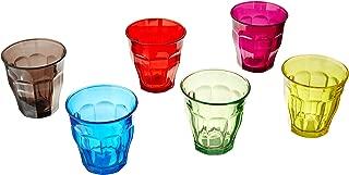 Duralex 1027SR06S3 Picardie 25 Cl Glass Tumbler, 8.75 oz, Multicolor
