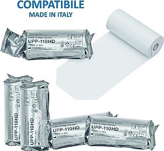 Sony UPP110 - Kit de rollos de papel térmico compatible con impresora médica, 10