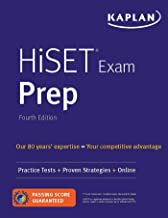 HiSET Exam Prep: Practice Tests + Proven Strategies + Online (Kaplan Test Prep) PDF