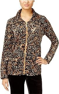 Womens Printed Velour Blazer Jacket