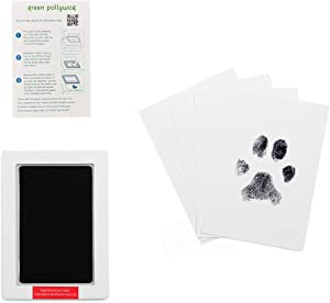 Green Pollywog Extra-Large Clean Touch Inkless Ink Pad for Pets - Pawprints for Dogs and Cats Non-Toxic
