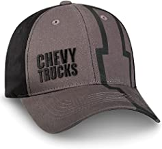 AGD Chevy Bowtie Gray and Black Flatbill Mesh Hat