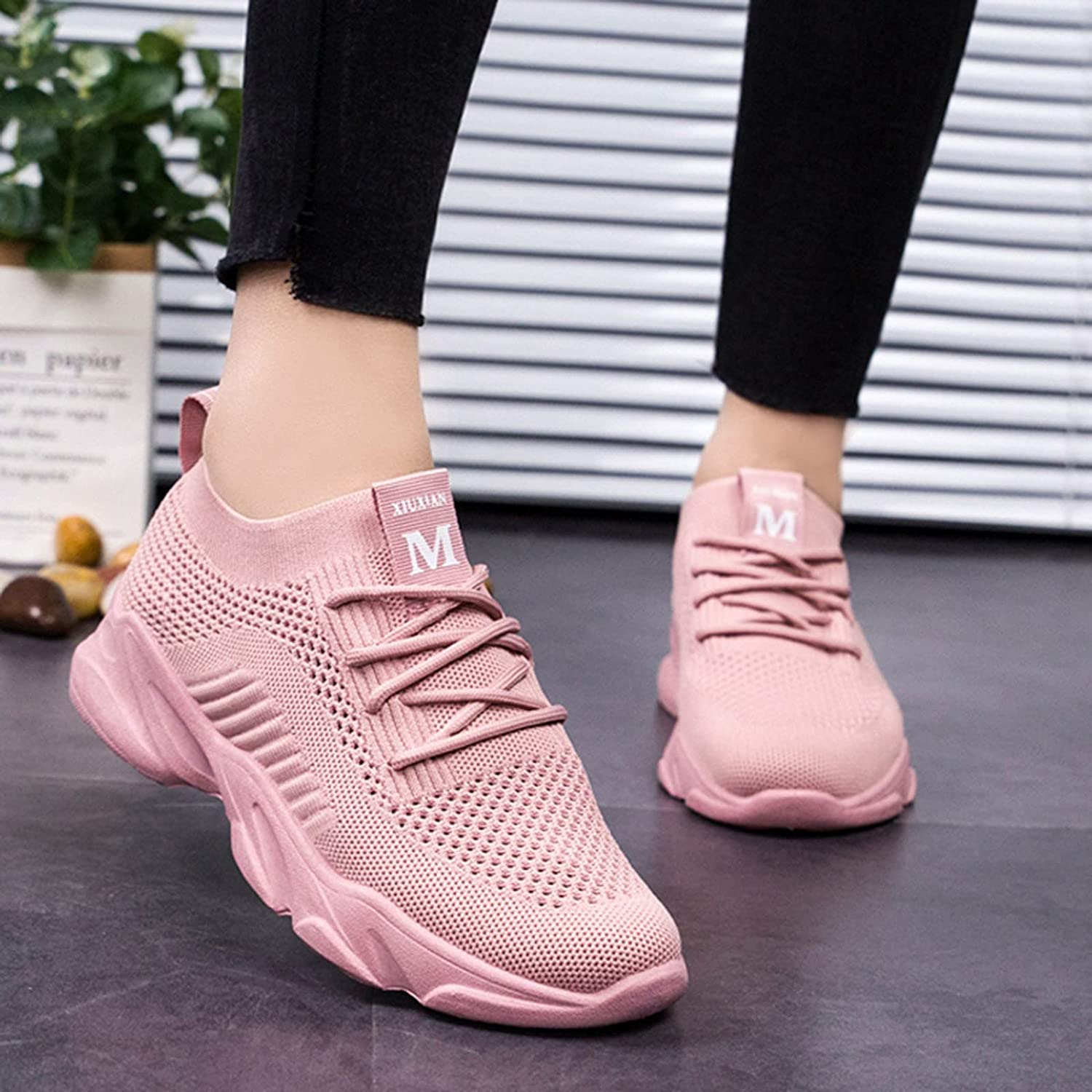 Masbird Sneakers for Women Breathable Sneakers Walking Shoes Fashion Casual Slip On Mesh Running Shoes