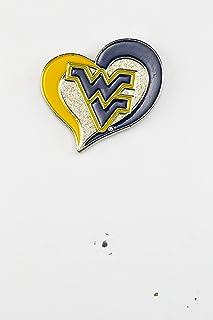 NCAA West Virginia Mountaineers Swirl Heart Pin