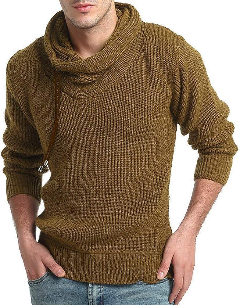 MODOQO Popular standard Men's Stand Collar Sweaters Sleeve Warm Soft Long Knitwea lowest price