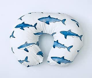 Nursing Pillow Cover - Blue Sharks