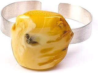 Armband Bernstein Armreif GELB sterling Silber 925 NEU- UNIKAT 21732