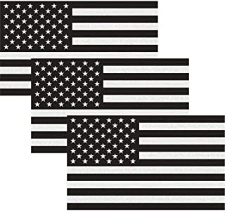 CREATRILL Reflective Subdued American Flag Sticker 3