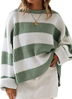 ژاکت زنانه آستین بلند زنانه یقه راه راه بلوک رنگی راحتی و شلوار پیراهن کشباف شل و بلند سایز بزرگ