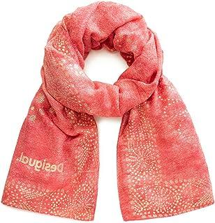 Rosso Donna Desigual Foul/_wild Sciarpa Unica Rose Skin 3112 Taglia Produttore: U