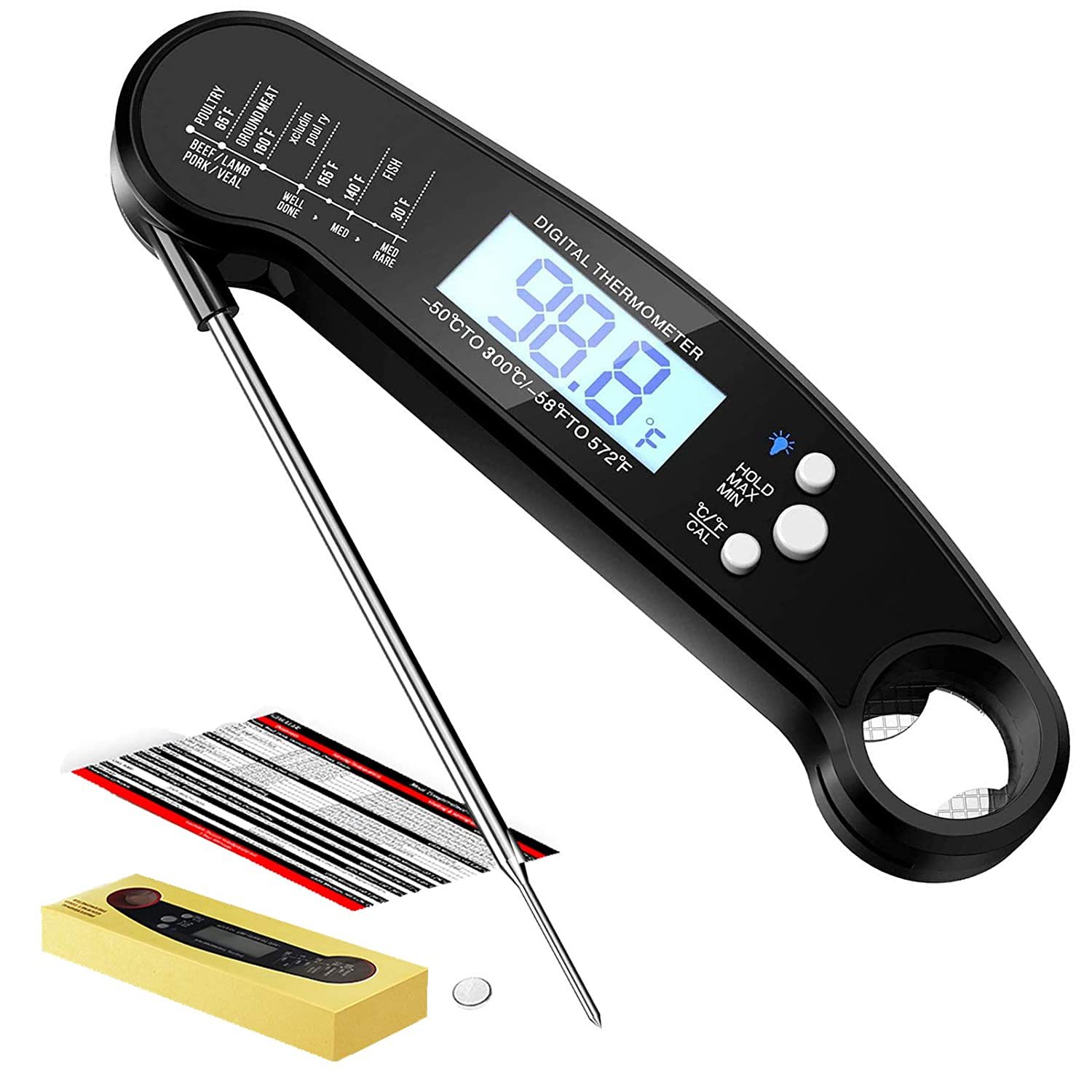 Jandays Instant Read 2021 new Meat Thermometer 55% OFF Waterproof Foo Ultra Fast