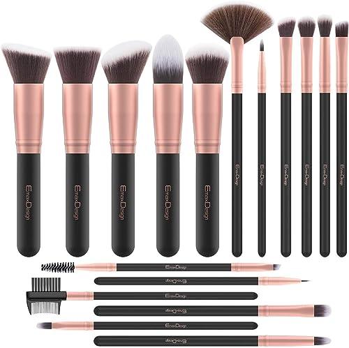 EmaxDesign Pinceaux Maquillage Professionnel 17 pièces Cosmétique Pinceaux Kit pour liquide Poudre crème Fusion de fo...