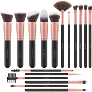 EmaxDesign Makeup Brushes 17 Pieces Premium Synthetic Foundation Brush Powder Blending Blush Concealer Eye ...