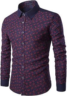 Camisa Para Hombre Negocios De Moda Formal Slim Fit Tamaños Cómodos Manga Larga Botón De Solapa Blusa Para Caballero Hombr...