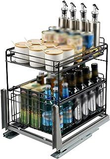 Organisateur d'armoire à tiroirs coulissants, support de rangement lourd pour armoires coulissantes, panier de traction d'...