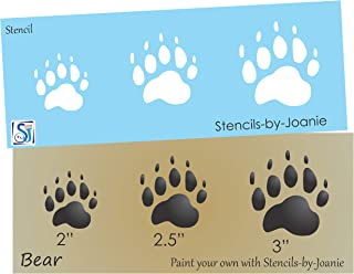 Joanie Stencil Bear Paw Print Animal Track Hunt Cabin Wild Rustic Lodge Man Cave DIY Signs (2