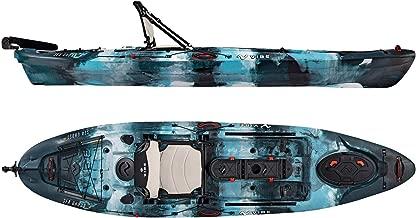 Vibe Kayaks Sea Ghost 110 11 Foot Angler Sit On Top Fishing Kayak with Adjustable Hero Comfort Seat (Blue Camo)