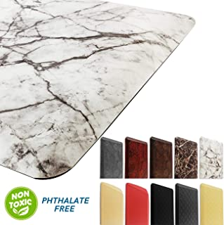 Marble Kitchen Mat Anti Fatigue Standing Mat Waterproof Nonslip Cushioned Rugs for Office Computer Desk W20x L36x H3/4