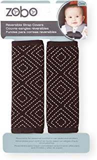 Zobo 2 Piece Reversible Strap Covers - Brown