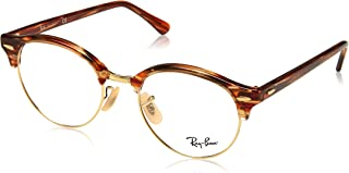 fa2d764fbc Óculos de Grau Ray Ban Clubround Rx4246v 5751 49 Marrom bege
