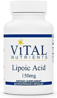 Vital Nutrients - Lipoic Acid - Multi-Purpose Nutrient and Powerful Antioxidant - Blood Sugar Support - 60 Vegetarian Caps...