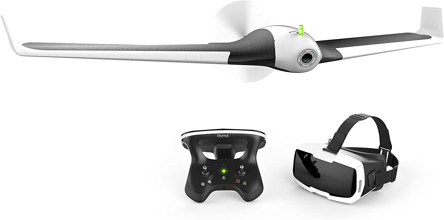 Parrot Disco FPV – Easy to fly fixed wing drone, up to 45 minutes of flight time, 50 mph top...