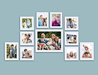 Painting Mantra Classy Photo Frame Set of 11 Individual Frames. (Photo Size : 1-8x10,6-5x5, 2-5x7, 2-4x6) White