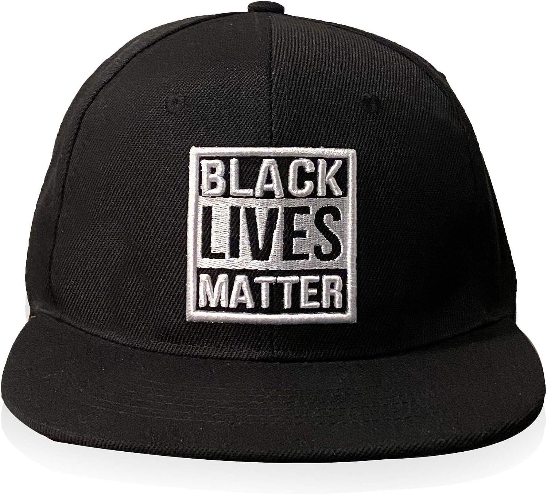Black Lives Matter Hat 3D Embroidered Flat Brim Baseball Cap Snapback