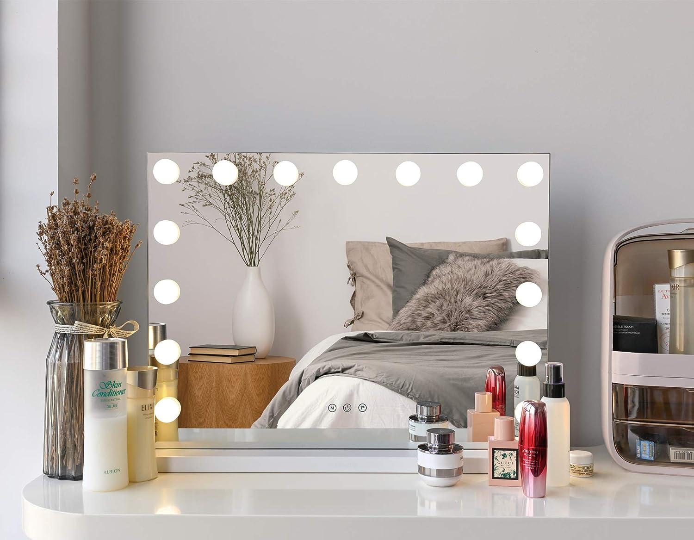 Metkiio Large Makeup Mirror Regular Louisville-Jefferson County Mall discount with Lighting Light Makeu Hollywood