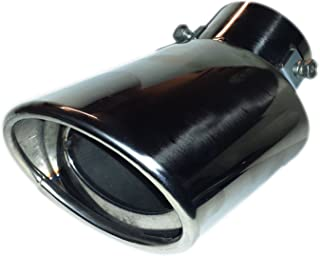 CHROME EXHAUST TIP OVAL TIP 178MM EASY TO FIT - SCREW/CLIP ON FITTING,  STAINLESS STEEL - TOP QUALITY NOT THE CHEAP TYPE - UNIVERSAL FIT - FORD,  VAUXHALL,  VOLKSWAGEN,  AUDI,  SEAT,  ETC