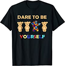 Autism Awareness Bear Dabbing Dare To Be Yourself T-shirt