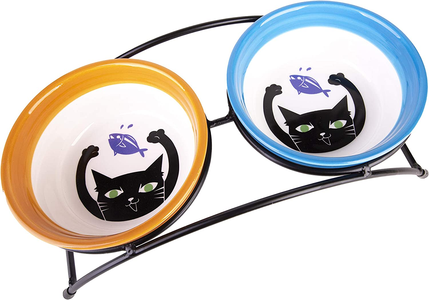 MushroomCat Pet Personalized Cute Feeder SEAL limited product Dog Ceramic Double Cat Now free shipping