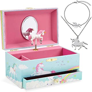 Jewelkeeper Unicorn Music Box & Little Girls Jewelry Set - 3 Unicorn Gifts for Girls makes ideal Birthday Gifts for Girls ...