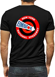 New York National Speedway Eliminator Hot Rod Rat Nostalgia Drag Race Racing NHRA Black Short Sleeve Shirt