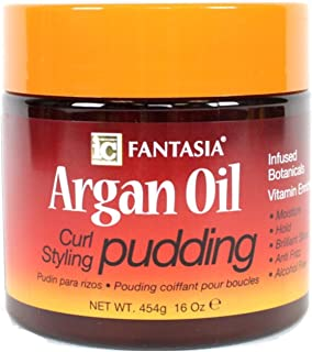 Fantasia Argan Oil Curl Styling Pudding, 16 oz (Pack of 2)