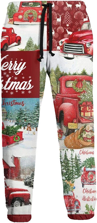 Mens Elastic Waist Sweatpants Christmas Decoration Dog Joggers Sweatpants for Gym Training Sport Pants