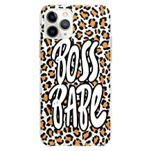 Cavka TPU Case Replacement for Apple iPhone 12 Mini 5G 11 Pro Xs Max X 8 Plus Xr 7 SE Boss Babe Print Soft Leopard Pattern...