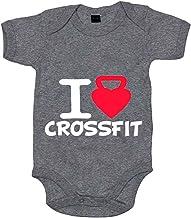 Body bebé I Love Crossfit - Gris, 6-12 meses