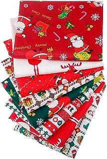 クリスマス 布地 綿 カットクロス DIY縫う手作りの布地 セット 綿オックス コットン100% 手芸 手作り ハンドメイド 商用利用可 (8枚)