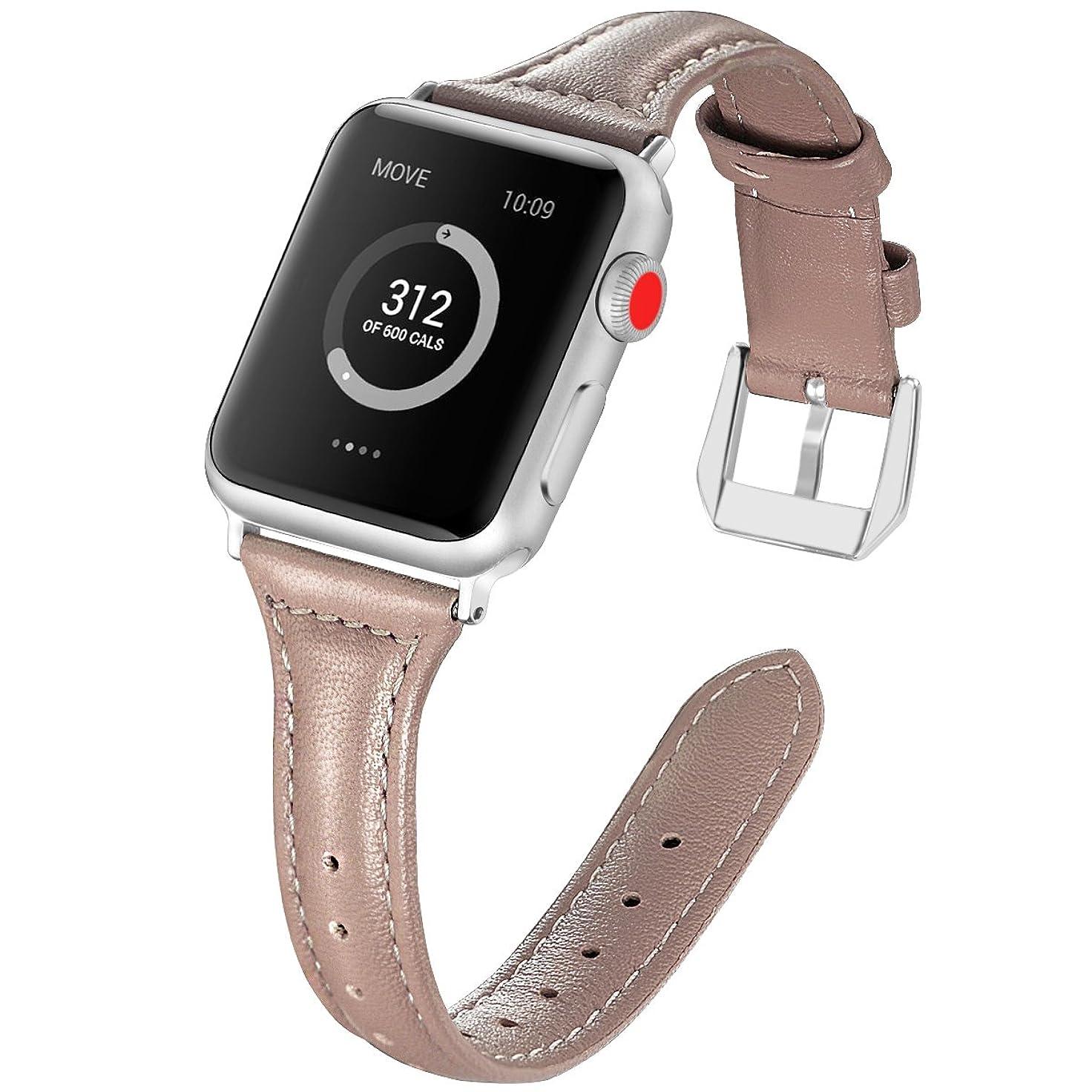 論理的アダルト属するArkgo バンド 38/40mm Compatible with Apple Watch 1/2/3/4/5 バンド, シリカゲルバンド 交換バンド柔らか運動型 アップルウォッチ (38/40mm-L, グレー)