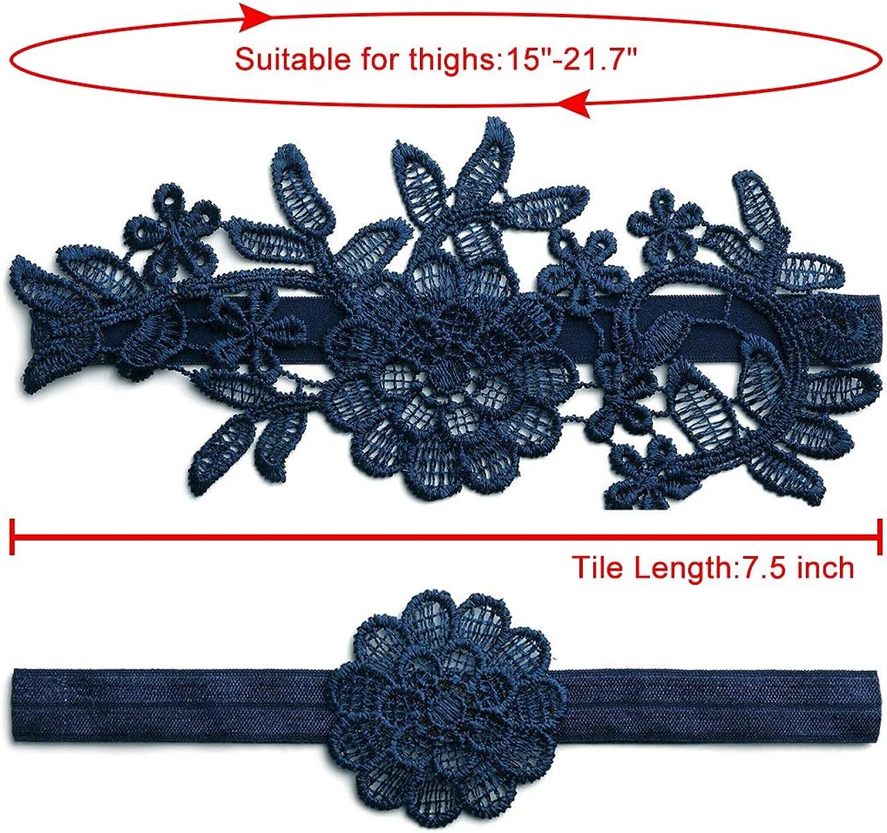 Ayliss Wedding Garter for Bride Stretch Prom Garters Bridal Leg Garter Set