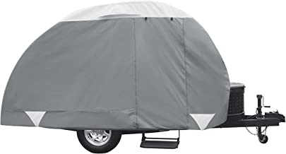 Classic Accessories PolyPro 3 Teardrop Camping Trailer Cover For Tab & Clam Shell Trailers (Renewed)