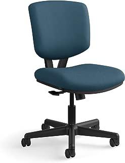 The HON Company GA90.T HON Volt Task Armless Office Chair for Computer Desk, Navy/Blue (H5703), Synchro-Tilt